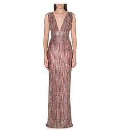 30cd2830ead293 ONO UNO Fiesta maxi dress (Pink multi selfridges Büro Kleider