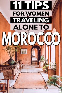 Morocco travel tips for those traveling solo. Here are 11 solo female travel tips for women traveling alone to Morocco. You'll want to read these before your trip to Morocco! #Morocco #MoroccoTravel #SoloFemaleTravel #TravelTips