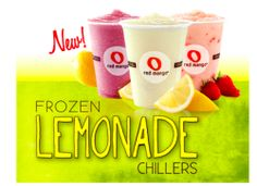 New $2/$6 Red Mango Lemonade Yogurt and Chiller Flavors