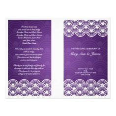 Elegant Purple Wedding Program | Wedding programs, Purple wedding ...