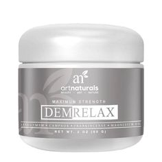 ARTNATURALS® DEMRELAX CREAM $17 It will all work out. Soothe sore muscles and achy joints with DemRelax. A post-workout potion infused with Arnica, Peppermint, Frankincense and Tea Tree Oil