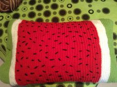 A watermelon-themed pillowcase I made