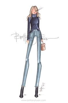 Sweater style | acne studios | vince | mark cross | Brittany Fuson | fashion illustration