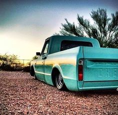 Sweet Chevy truck. Favorite color . Nice L.P..