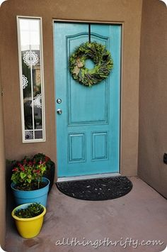 All Things Thrifty Home Accessories and Decor: How to paint your {UGLY} front door