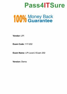 Most Reliable Pass4itsure 117-202 Vce Testing Is What You Need To Take in https://www.pass4itsure.com/117-202.html