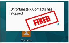 """How To Fix """"Unfortunately, Contacts Has Stopped"""" On Android Ghost Touch, Go To Apps, Settings App, Data Recovery, Homescreen, Android, Messages, Ios, Phone"""