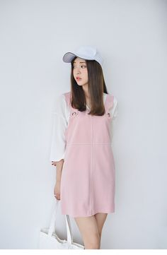 Korean Fashion - Pink strap dress