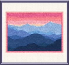 Rocky Mountains - cross stitch pattern designed by Marv Schier. Category: Mountains.
