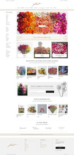 Shopify Case Study: A Strong & Stable Ecommerce Website for Floret Flower Farm - Aeolidia Ecommerce Shop, Ecommerce Web Design, Web Analyst, Farm Business, Website Design Inspiration, Flower Farm, Shopping Websites, Page Design, Hunting