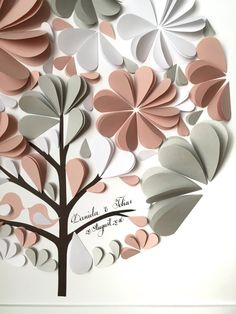 Guest Book Ideas Dusty Rose and Grey guest book  por MioGallery
