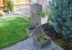 Create A Cinder Block Vertical Planter