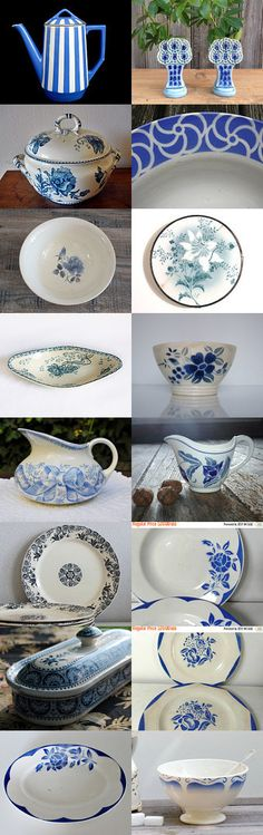 Sarreguemines Bleu french vintage by kikidelavega on Etsy--Pinned with TreasuryPin.com