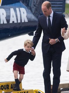Prince George leaving, plane, Victoria in Canada.