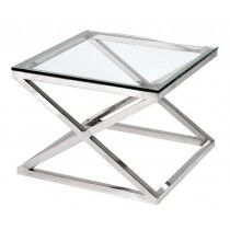 Buy Eichholtz Criss Cross Square Side Table Polished Stainless Steel Clear Glass online with Houseology's Price Promise. Full Eichholtz collection with UK & International shipping. Glass Side Tables, Glass Table, Metal Furniture, Luxury Furniture, Outdoor Furniture, Black Art, Criss Cross, Contemporary Side Tables, Contemporary Style