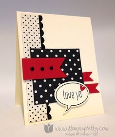 Stampin up stamp it pretty mary fish word bubbles framelits dies just saying card ideas blog