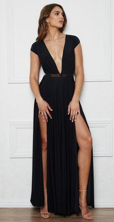 d78852056d BLOWN AWAY DRESS Double Slit Dress