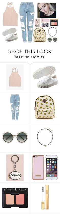 """""""""""okaysage"""" inspired"""" by artamus on Polyvore featuring Monki, Puma, Topshop, Chloé, Dogeared, Ted Baker, NARS Cosmetics and Yves Saint Laurent"""