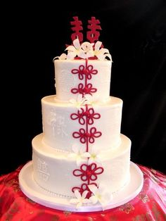 See more about wedding cakes, red flowers and themed cakes. Gorgeous Cakes, Pretty Cakes, Cute Cakes, Amazing Cakes, Round Wedding Cakes, Themed Wedding Cakes, Themed Cakes, Chinese Cake, Japanese Cake