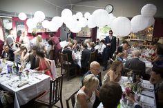 The Londesborough, white paper globes