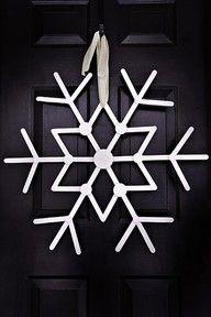 popsicle sticks snow flakes.