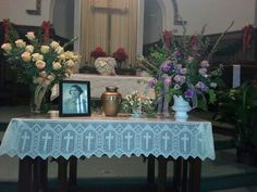 My mom's funeral
