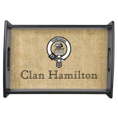 Clan Hamilton Crest Badge Serving Tray