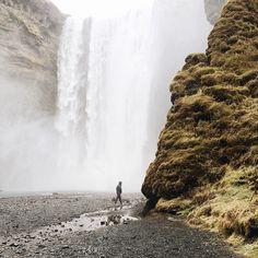 Misty waterfall.