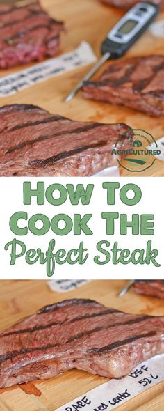 How to Cook the Perfect Steak from My Fearless Kitchen. You know when you're looking forward to that perfect steak dinner, just to find out that you accidentally over- or under-cooked your steak? Best Grill Recipes, Veal Recipes, Tailgating Recipes, Beef Recipes For Dinner, Rib Recipes, Cooking Recipes, Cooking Tips, Picnic Recipes, Cooking Stuff