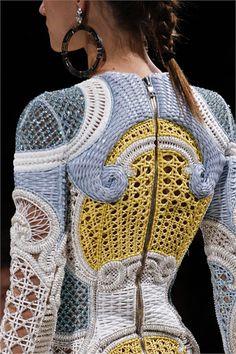 Sfilata Balmain Paris - Collezioni Primavera Estate 2013 - Vogue.............. hexagonal or triaxial weave