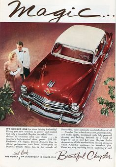 1954 Chrysler Advertisement National Geographic August 1954 ☆。★。JpM ENTERTAINMENT ★。☆。