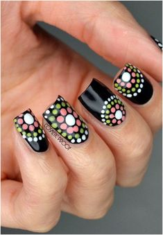 Since Polka dot Pattern are extremely cute & trendy, here are some Polka dot Nail designs for the season. Get the best Polka dot nail art,tips & ideas here. Dot Nail Art, Polka Dot Nails, Striped Nails, Nail Art Diy, Easy Nail Art, Diy Nails, Leopard Nails, Polka Dots, Dot Nail Designs