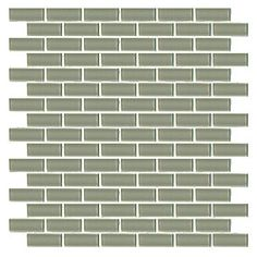 Winter Brick Glass Mosaic 12 x 12 in. $17.99 a SF. #thetileshop