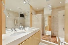 Bathroom in an incredible lateral apartment in Knightsbridge overlooking Lowndes Square available for both Long and Short Term rental.