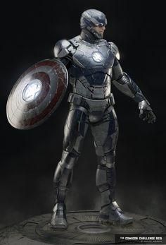 """Freedom.  Justice.  Technology.  Robocop.  No, wait--Elegant Armor Abraão Segundo: """"Captain Iron."""""""