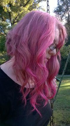 lovelydyedlocks ion color brilliance magenta on bleached portion of hair vztxrtumblrcom hair pinterest ion color brilliance and fantasy hair