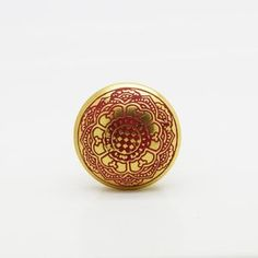 Gold And Coral Cupboard Knobs