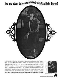 "blackgoldofthesun:  ""Van Dyke Parks  Crawdaddy Magazine Advert, May 1968  """