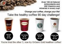 Stop throwing away money on coffee and out that money in your pocket and still enjoy a cup. Become an ORGANO gold distributor. Organo Gold Healthy Coffee Over 150 antioxidants Over 200 Vitamins and Minerals Coffee Recipes, Dog Food Recipes, Latin Food, Cream And Sugar, Best Coffee, Coffee Time, Vitamins And Minerals, Healthy Drinks, Healthy Gourmet