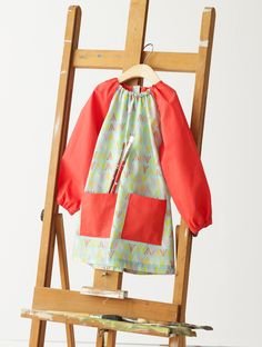 Art Smock from Oliver + S Little Things to Sew  *Liesl this is so sweet- thanks-katie