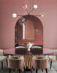 Located in Melrose Avenue, the West Hollywood Design District inspired Creativemary in the Melrose Suspension Lamp's creation. This piece will make you live creativity. Pantone, Bohemian Style Bedrooms, Luxury Lighting, Unique Lighting, Pink Walls, Do It Yourself Home, Ceiling Pendant, Eclectic Decor, Elle Decor
