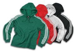 Adidas Womens Athletic 3-Stripes Zipped Hoodie, Hooded Sweatshirt $32.95