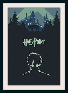Harry Potter cross stitch pattern,  BOGO, PDF counted cross stitch Harry Potter,Hogwarts pattern, R088