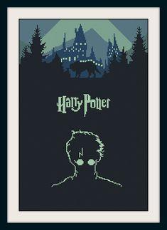 Harry Potter cross stitch pattern,  BOGO, PDF counted cross stitch Harry Potter,Hogwarts pattern, R088