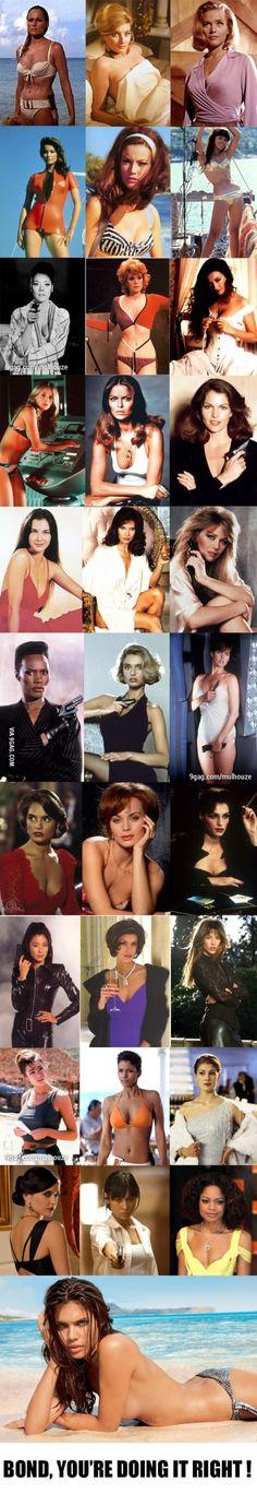 50 years of James Bond Girls