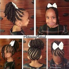 This braid and twist #ponytail is too cute by #charlottestylist @returning2natural 💕 Adorable🎀 #voiceofhair========================== Go to VoiceOfHair.com ========================= Find hairstyles and hair tips! =========================