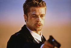 Brad Pitt in Seven directed by David Fincher, 1995