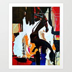 Pain and Gain - Vegan Series - Art Print by M.TALIERA -  #society6 #art #rabbit #vegan #abstractart #red #blue #black  #yellow #home #interior #artprint #artist #mtaliera