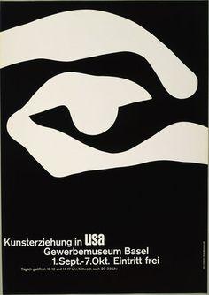 Armin Hofmann. Kunsterziehung in USA, Gewerbemuseum Basel, 1.Sept.-7.Okt. Eintritt frei. 1961