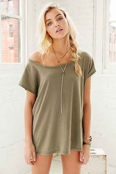 Truly Madly Deeply Off-The-Shoulder Tee - Urban Outfitters